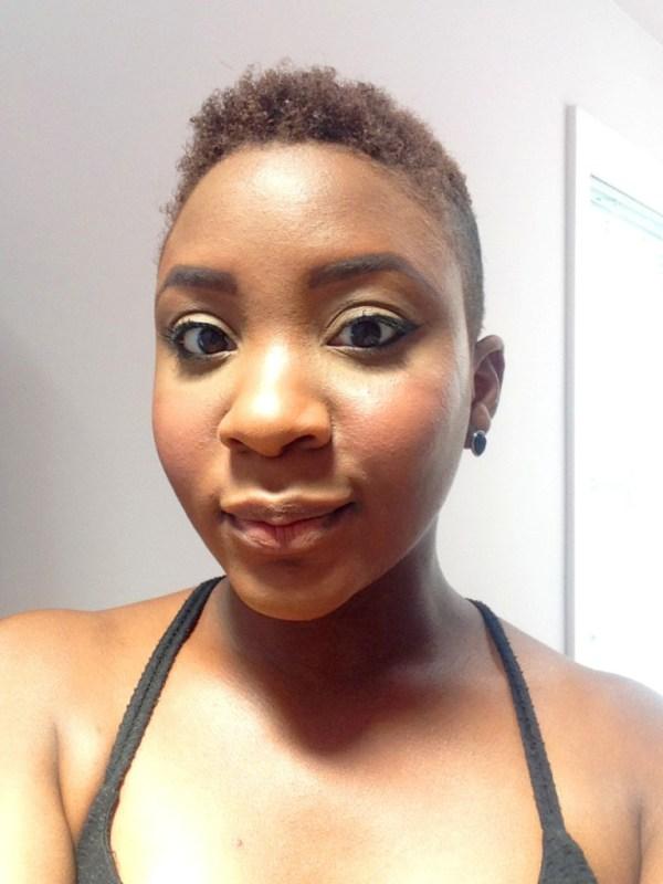 Simple summer makeup face