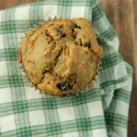 sweet potato blueberry muffins.