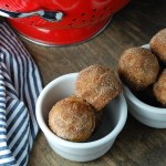 baked apple cider doughnut holes.