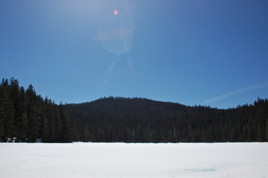 Lower Twin Lake frozen over in April | theringers.co