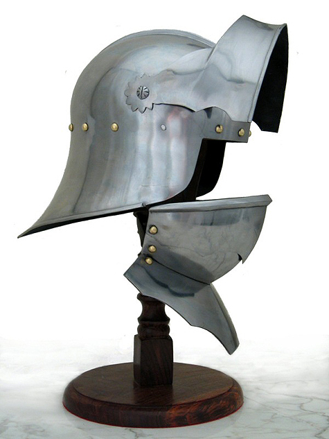 TherionArms  Gothic sallet with bevor 18ga