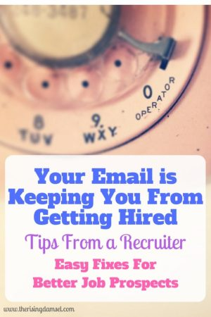 Your email address is keeping you from getting hired. How to fix it. The Rising Damsel #girlboss #careerhelp #careergoals #money #finance #future #emailaddress #hrapproved #recruiter #jobprospects #newjob