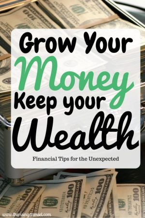 Grow your money. keep your wealth. financial tips for the unexpected. the rising damsel