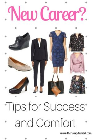 New Career? Tips for Success and Comfort in the Office. The Rising Damsel #firstweek #careergirl #career #success #comfort #girlboss