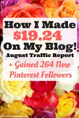 August Traffic and Income Report. The Rising Damsel #girlboss #report #traffic #income