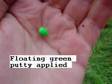 flating green putty