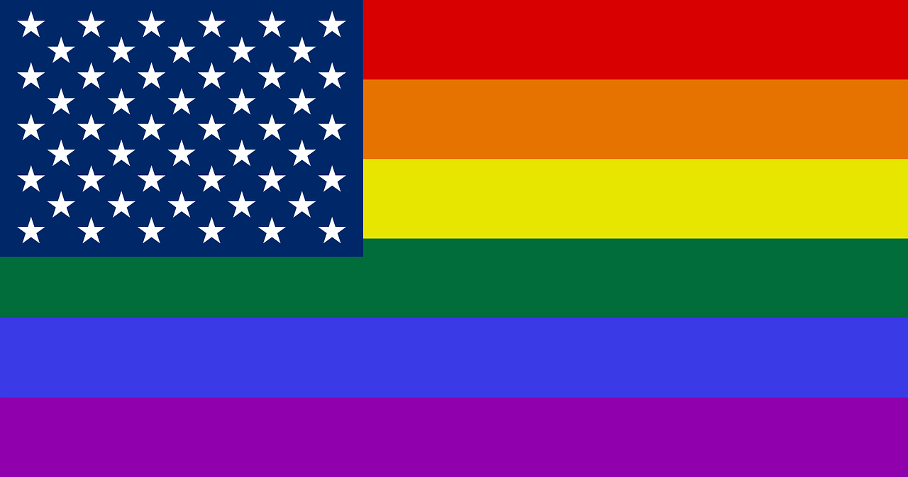 The River of Pride USA Rainbow Flag