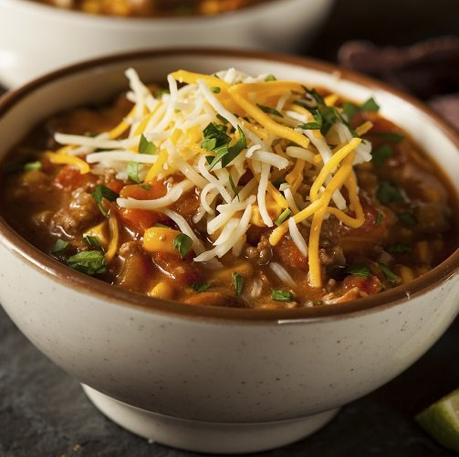 Healthy Fall Recipe Slow Cooker 3-Bean Chili