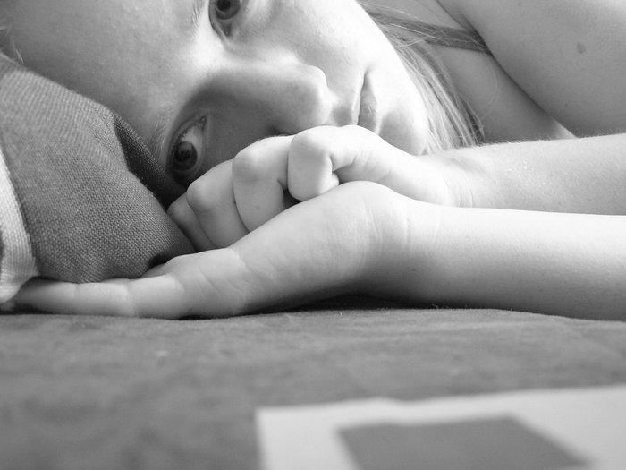 Girl in Depression