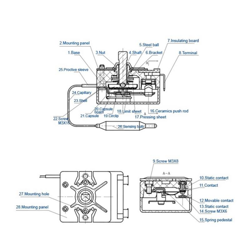 EGO Standard Capillary Oven Thermostat Manufacturers and