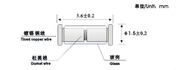 Glass-sealed NTC Thermistor-MF59 supplier,China Glass