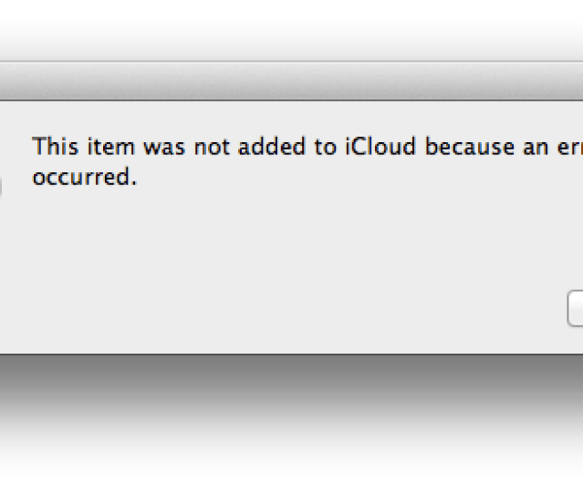 An Error Occurred Please Thermal Exposure Itunes Icloud Match Error Fix This