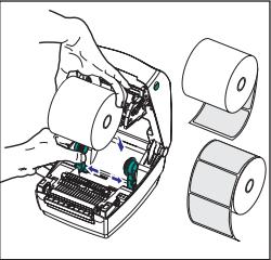 How do I load media on my Zebra Thermal Printer?
