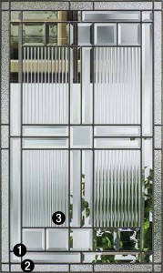 Saratoga  Decorative  Specialty Glass  ThermaTru Doors