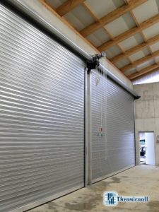 pequeño tamaño de las puertas de persiana industriales para el sector energético