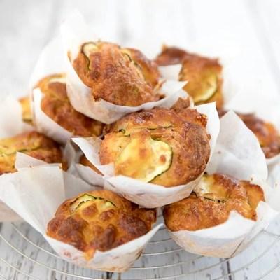 Close Up Zucchini Muffins