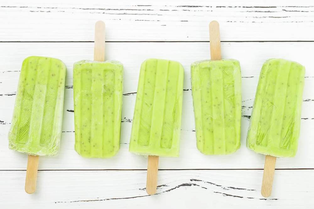 Green Smooth Popsicles