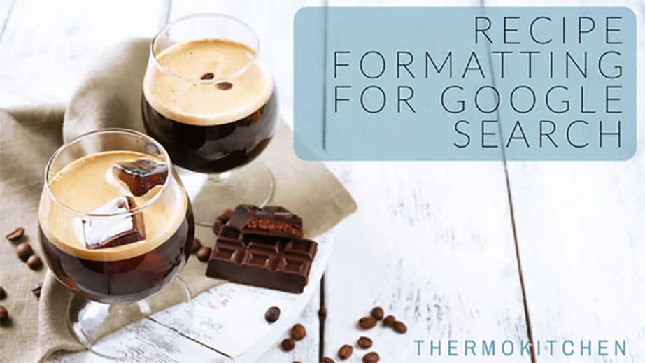format a recipe post