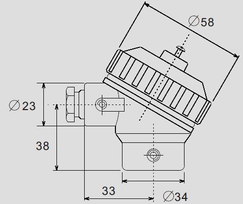 KSC Aluminium ADC12 Thermocouple Connection Head