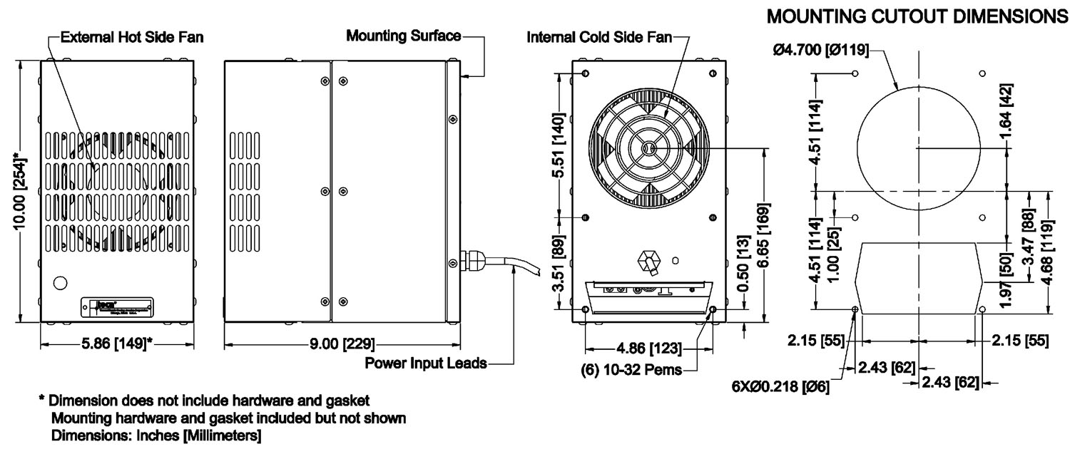 compact, flush mount thermoelectric air conditioner