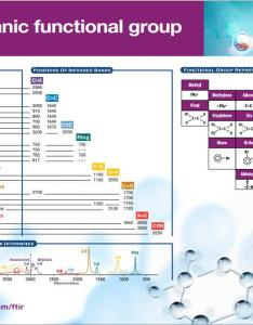 Ftir basic organic functional group also free reference chart rh thermofisher