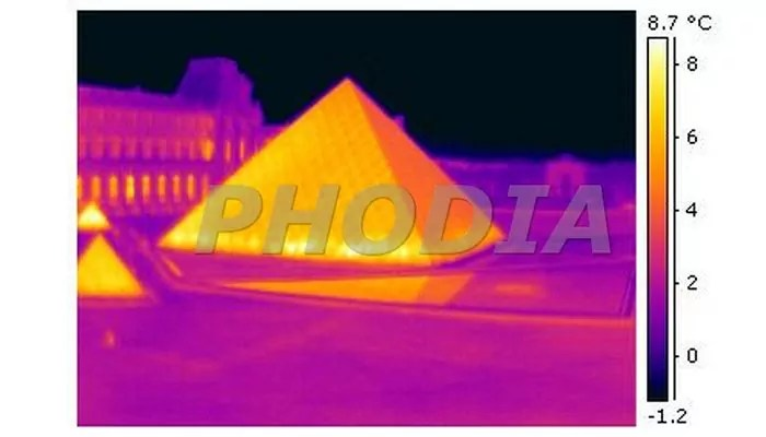 thermographie aerienne capture infrarouge musée du louvre