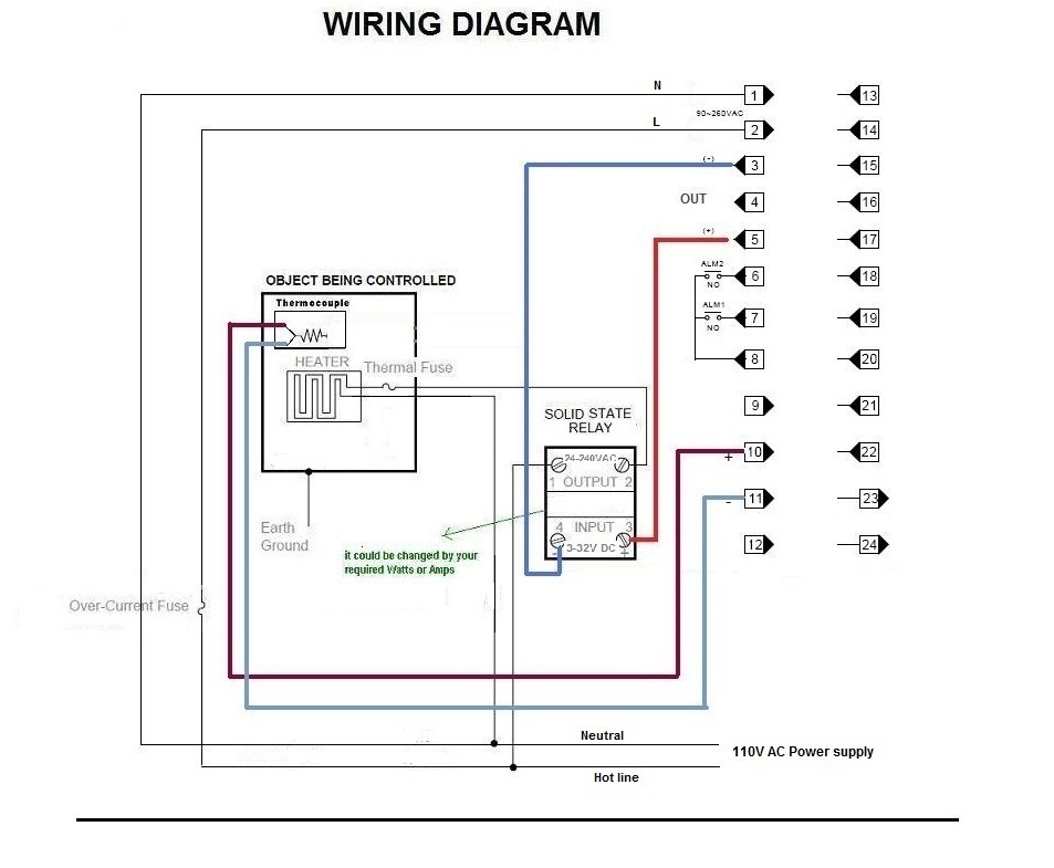 pid temperature controller kit wiring diagram sky dish programmable ramp soak dual digital 50 segment time for paragon pottery ceramic annealing
