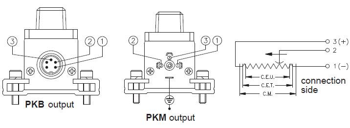 Gefran PK: Linear Transducer, resistive track with slider