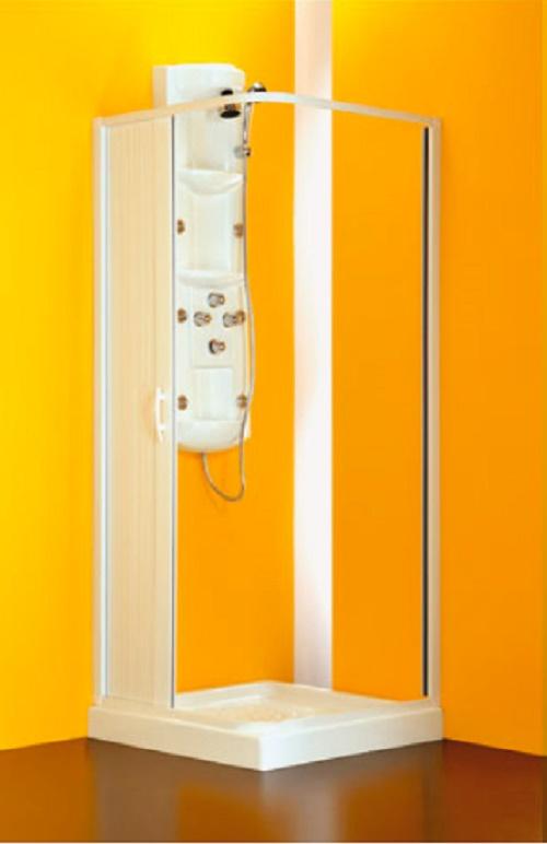 BOX DOCCIA ANGOLARE LATER PVC RIDUCIBILE 80 60 X 80 60 X