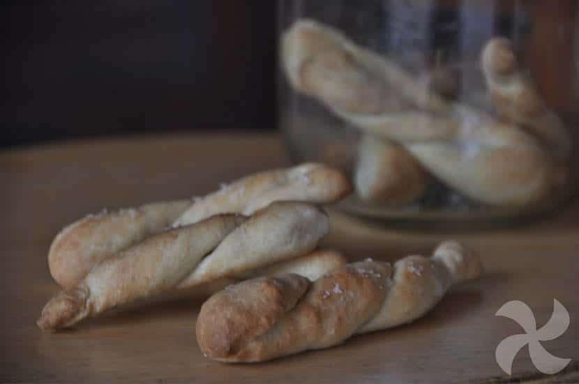 """Palitos de pan """"enrollados"""""""