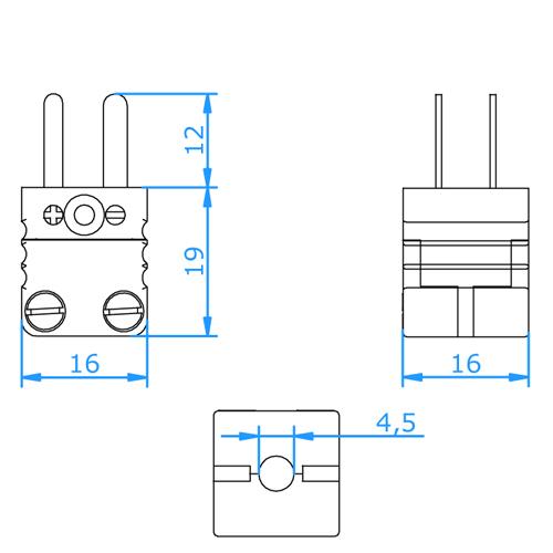 Miniature Duplex Thermocouple and RTD Connectors