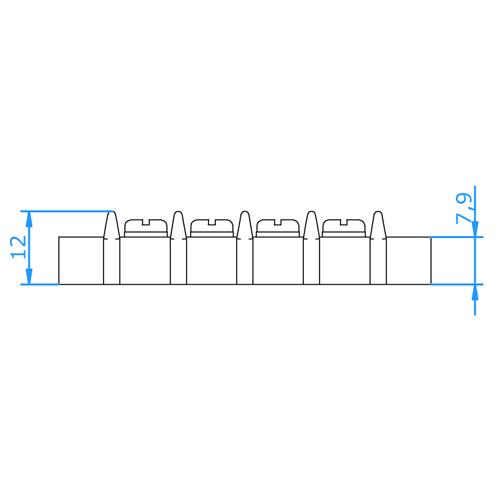 BTC-08-K Type K Barrier Terminal Block (8 Circuits