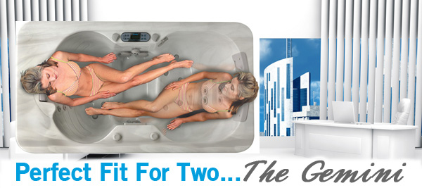 Ideal for One Perfect for Two  Gemini Hot Tub  ThermoSpas Hot Tubs