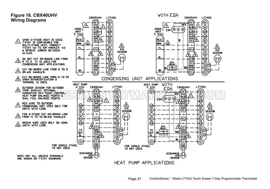 Lennox L7742U ComfortSense Thermostat Programming and