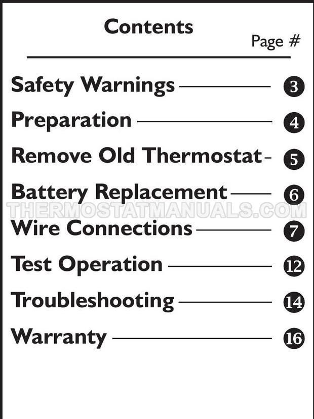 Venstar T1045 Thermostat Installation Instructions