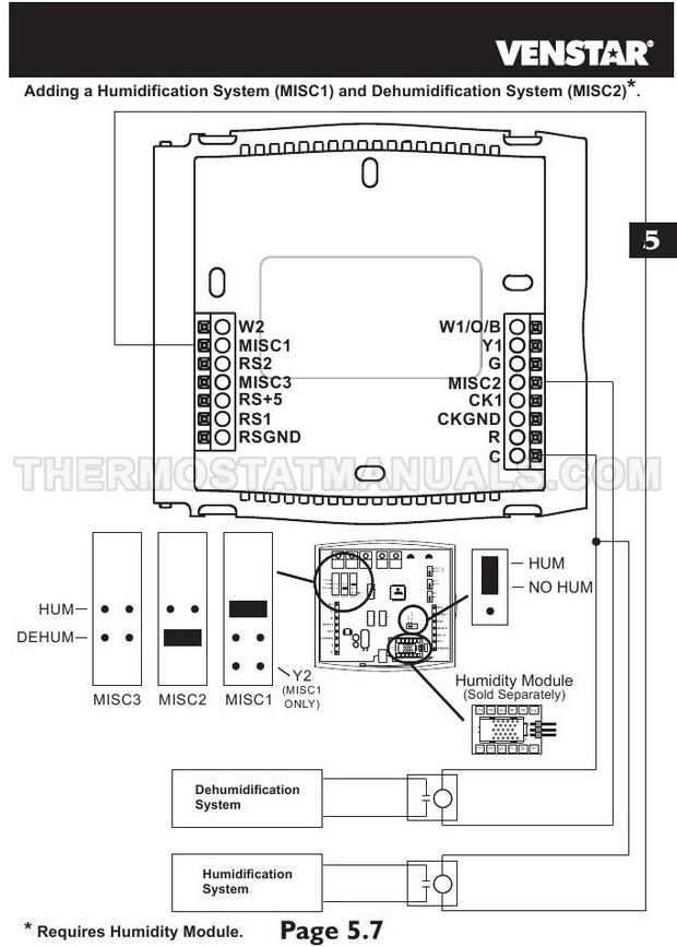 Venstar T2700 Thermostat Installation Instructions
