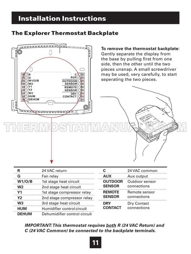 Venstar T4900 Explorer Owner's Manual and Installation