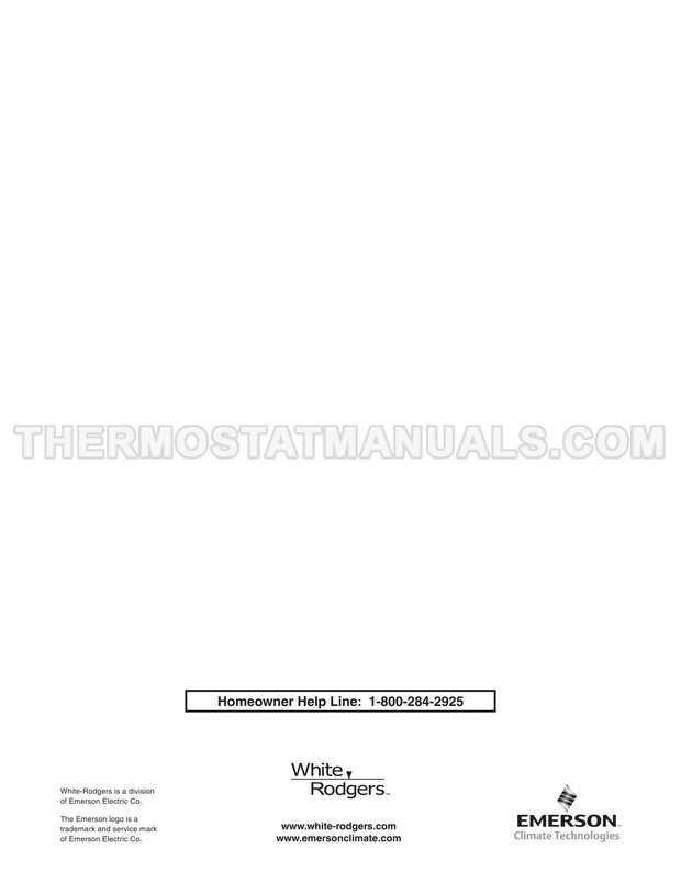 White Rodgers 1F89EZ-0251 Installation Instructions and
