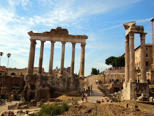 View of the ancient Roman Forum, Rome, Italy