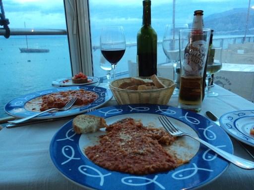 delicious food in Sorrento, Italy