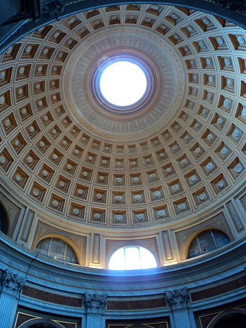 dome ceiling in the Vatican Museum
