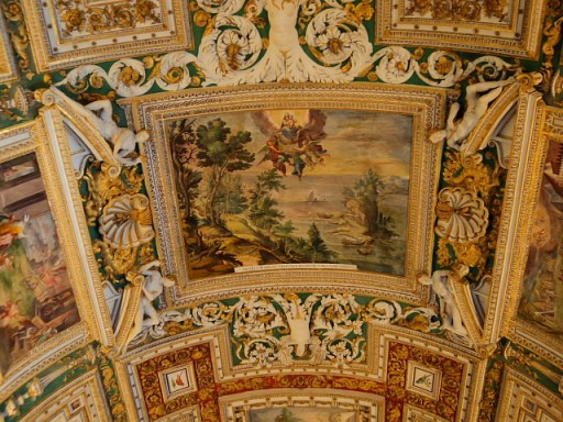 ceiling artwork in the Vatican Museum