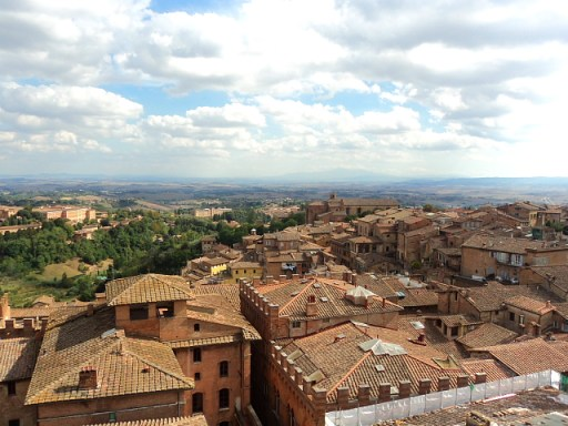 view of siena, tuscany, italy