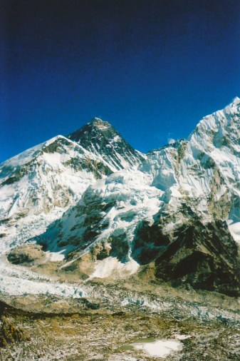 Staring at Mount Everest. The highest place on earth
