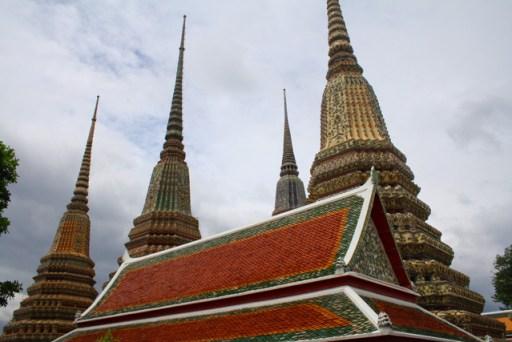stupas in Wat Po, Bangkok, thailand