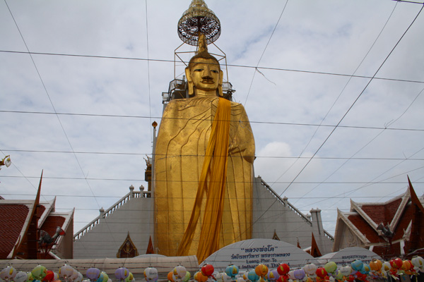 The Standing Buddha at Wat Nopanat  in Bangkok, Thailand