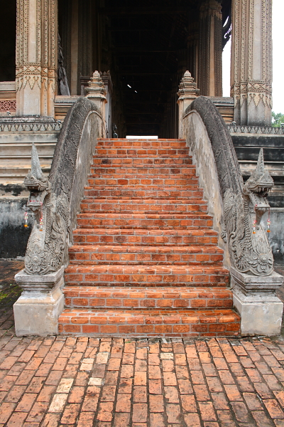 Staircase at Ho Phra Keo in Vientiane, Laos