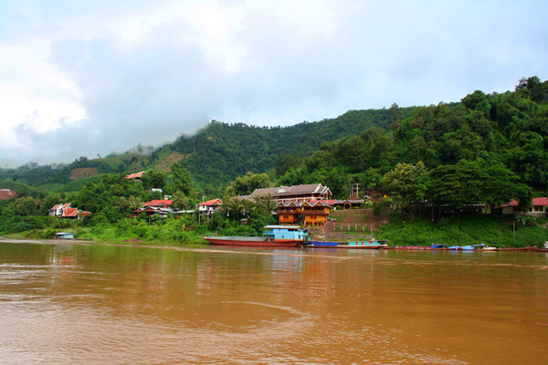 Mekong River at Pakbeng, Laos