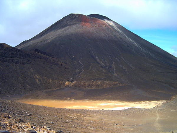 Mount Ngauruhoe on the Tongariro Crossing, new Zealand