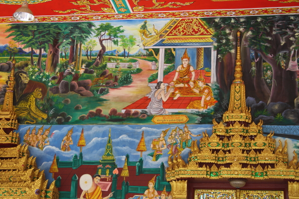 artwork in Wat Inpeng in Vientiane, Laos